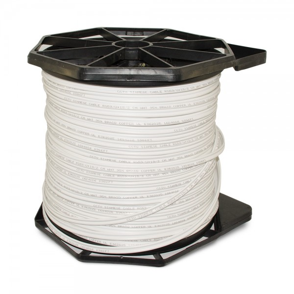 CB1000W 1000FT Bare Copper Siamese Cable ETL & UL Listed