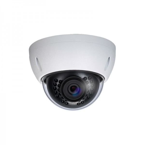 4MP Full HD Network IR Mini Dome Camera. 2.8mm Fixed Lens, IR(100ft), True WDR, IP67, IK10, PoE