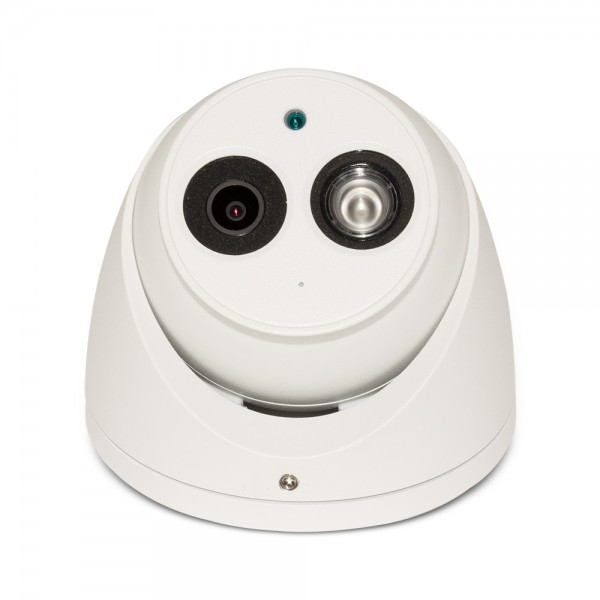 4MP Network IP HD WDR LXIR Dome Camera. 2.8mm Fixed Lens, IR(165ft), Built-in Mic, IP67, PoE