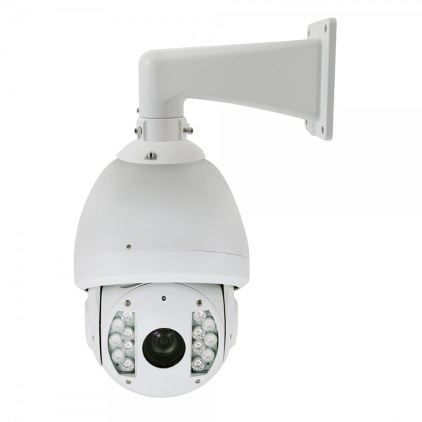 2MP Full HD Network PTZ Dome Camera. 20x Zoom, IR up to 330ft Weatherproof