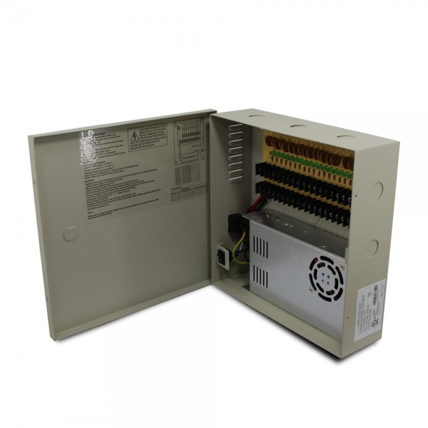 18 CH 25Amp DC12V Power Supply Box. PTC UL Listed
