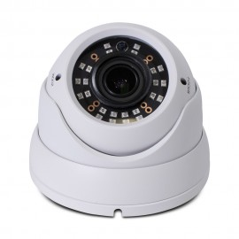 HD 4-in-1(CVI, TVI, AHD, Analog) Turret Dome 4MP 2.8-12mm Vari-focal Lens 24 New IR LEDs Weatherproof