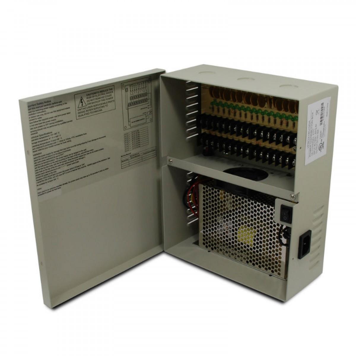 18 CH 20Amp DC12V Power Supply Box  PTC UL Listed