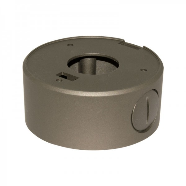 "BVCD504G Junction Box for Turret Domes 3.75"" - Metallic Grey"