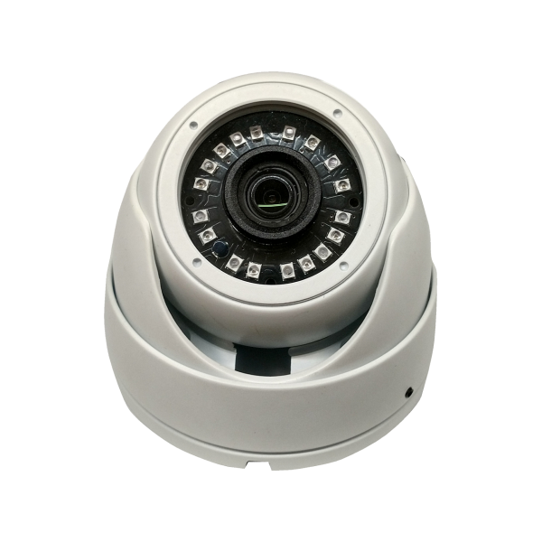 HD-TVI Dome: SONY Cameras w/HD-Lens(6.0MP Fixed Lens / 5.0MP), 18pcs Microcrystalline IR, BLC, DWDR, OSD(CoC), Adjustable To 4MP - White