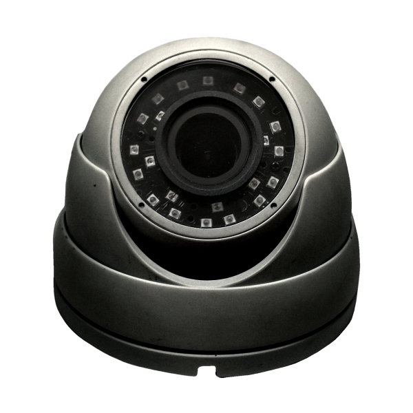 HD-TVI Dome: SONY Cameras w/HD-Lens(6.0MP Fixed Lens / 5.0MP Motorized Len), 24pcs. Microcrystalline IR, BLC, DWDR, OSD(CoC), Adjustable To 4MP - Grey