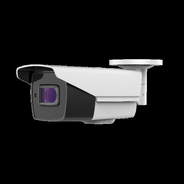HD-TVI Bullet 4K: 4-in-1(CVI/TVI(8MP), AHD(5MP), Analog) Bullet 4K 2.7-13.5mm Motorized Lens IR LED's Weatherproof - White