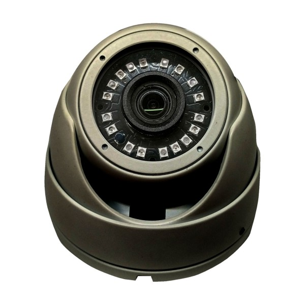 HD-TVI  Dome: 4-in-1 (CVI, TVI, AHD, Analog) Turret  Dome 1080P 2.8mm Fixed Lens 24IR Weatherproof - Grey