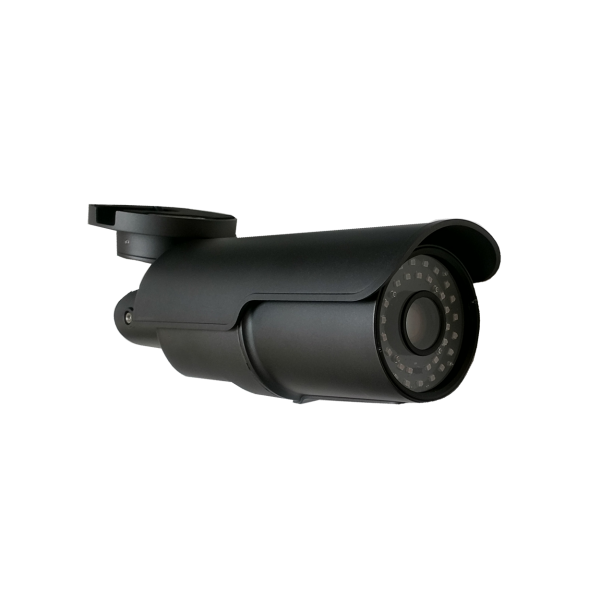 HD-TVI Bullet: 4-in-1 (CVI, TVI, AHD, Analog) Bullet 1080P 5-50mm Vari-Focal Lens 3 Super & 36pcs Microcrystalline IR LED's  Weatherproof  - Grey
