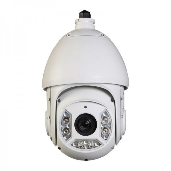 HD CVI PTZ Dome 1080P 30x Optical Zoom, Smart IR up to 330Ft. IP66 Weatherproof