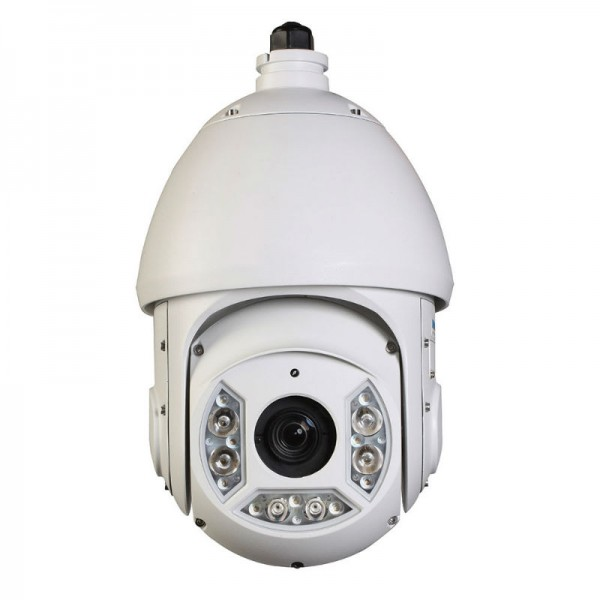 2MP Full HD Network PTZ Dome Camera. 30x Zoom, IR up to 330ft Weatherproof