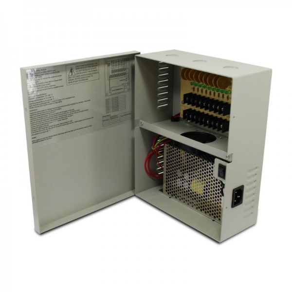 9 CH 18Amp DC12V Power Supply Box. PTC UL Listed