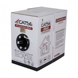 CAT5E Ethernet Cable, Plenum Unshielded, UL Listed, CMP, 24 AWG, 1000ft - White