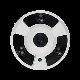 HD-TVI Specialty: 4-in-1 (CVI, TVI, AHD, Analog) Fisheye 1080P 2.4 Fixed Lens 24IR Weatherproof - White