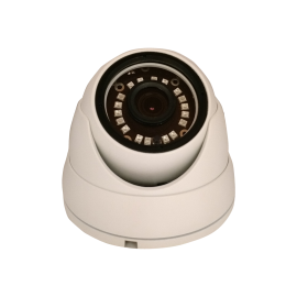 HD-TVI Dome: 1080P 3.6mm Fixed Lens 24IR Weatherproof - White