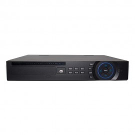 32 CH 4K NVR 1080p HD Resolution, H.265/H.264, 200 Mbps, 4 HDD Bays, Built-in 16 PoE Ports