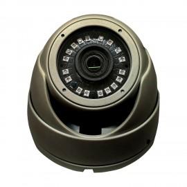 HD-TVI  Dome: 4-in-1 (CVI, TVI, AHD, Analog) Turret  Dome 1080P 2.8mm Fixed Lens 24IR Weatherproof - Grey