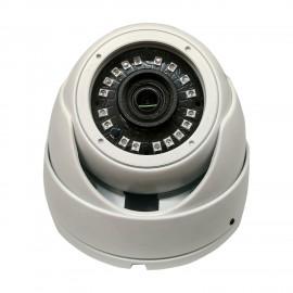 HD-TVI DOme: 4-in-1 (CVI, TVI, AHD, Analog) Turret  Dome 1080P 2.8mm Fixed Lens 24IR Weatherproof - White