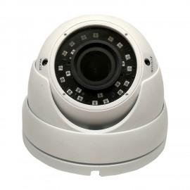 HD-TVI Dome: 4-in-1 (CVI, TVI, AHD, Analog) Turret  Dome 1080P 2.8-12mm Vari-focal Lens 24IR Weatherproof - White