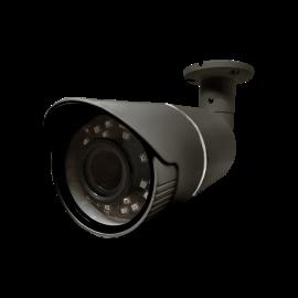 HD-TVI Bullet: 4-in-1 (CVI, TVI, AHD, Analog) Bullet 1080P 2.8-12mm Vari-Focal Lens 27pcs Microcrystalline IR LED's  Weatherproof - Grey