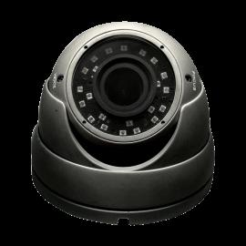 HD-TVI Dome: 4-in-1 (CVI, TVI, AHD, Analog) Turret  Dome 1080P 2.8-12mm Vari-focal Lens 24IR Weatherproof - Grey