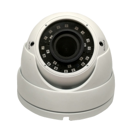 HD-TVI Dome: 4.0MP Cameras w/4.0MP HD-Lens, Microcrystalline IR, BLC, OSD (CoC) - White