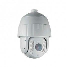 HD-TVI PTZ: 5MP CMOS(4-in-1) 18x Optical Zoom Super-Power Array IR Up To 400ft.(Wall Mount Bracket Sold Separately) - White